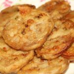 Fried Lotus Root with Pork recipe from The Art of Chinese Cooking by the Benedictine Sisters of Peking. where it was entitled Lotus Root Sandwich, or Lien Ou Jou Mien Pao in Chinese.