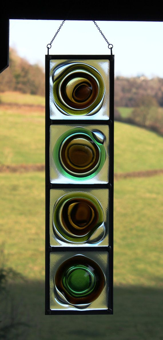 Fused glass bottle buttoms. Inspiration! Want to do this!!!
