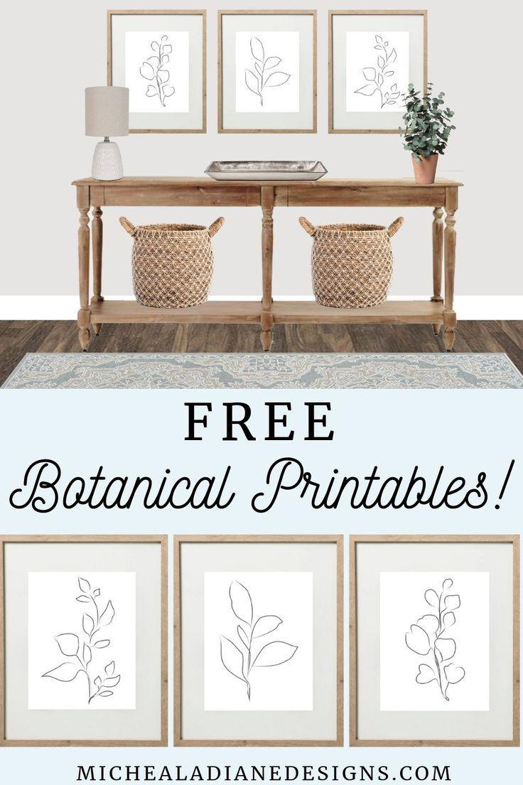 Free Neutral Botanical Printables Michealadianedesigns Com Free Printables Free Farmhouse Print Wall Decor Printables Modern Wall Decor Art Free Wall Art