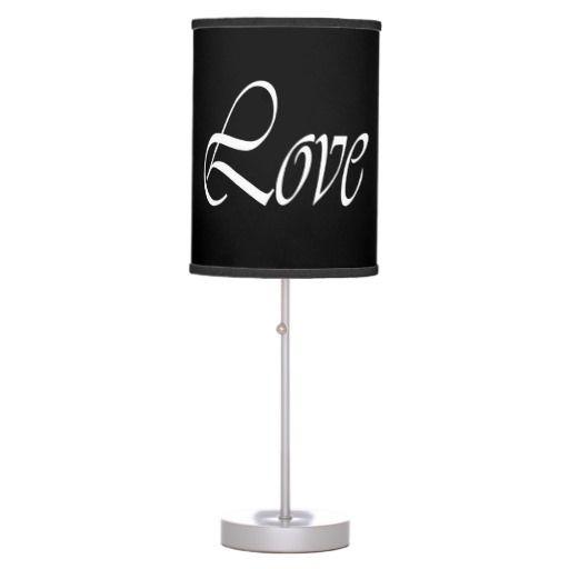 Light of Love White on Black Desk Lamps