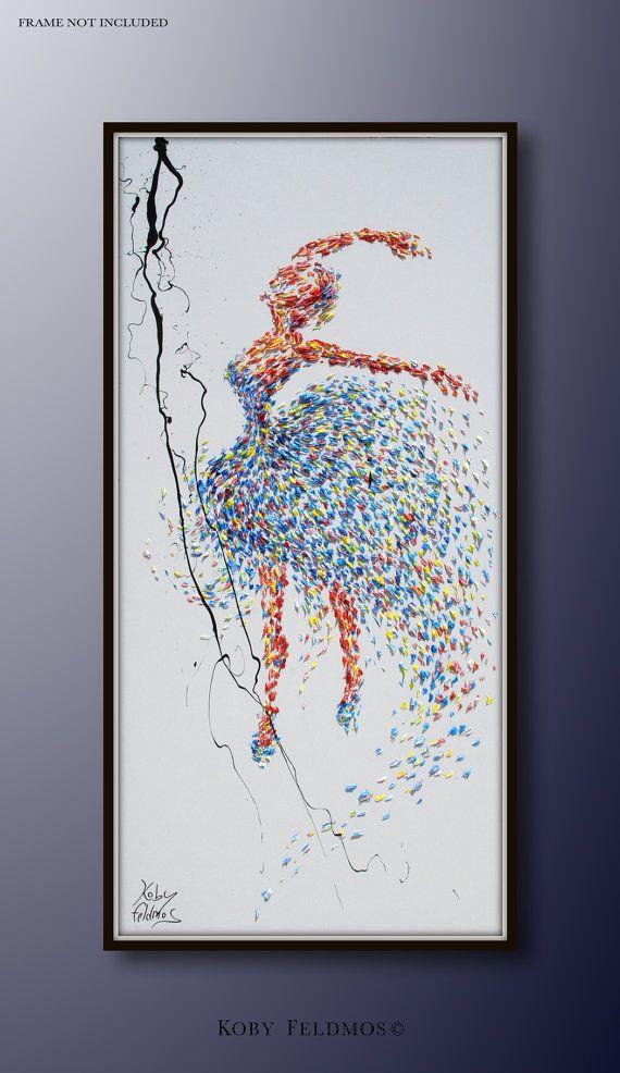 Ballerina Painting 60 original painting on canvas by KobyFeldmos