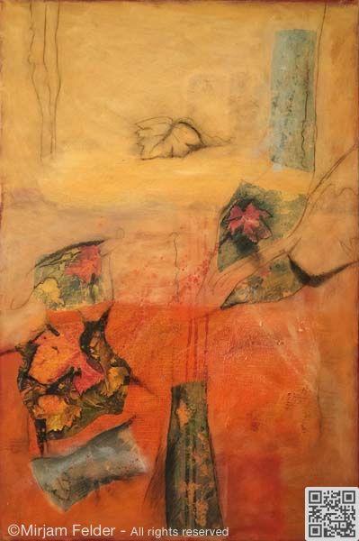 """mixed media on canvas, 20x28"""", 50x70 cm"""