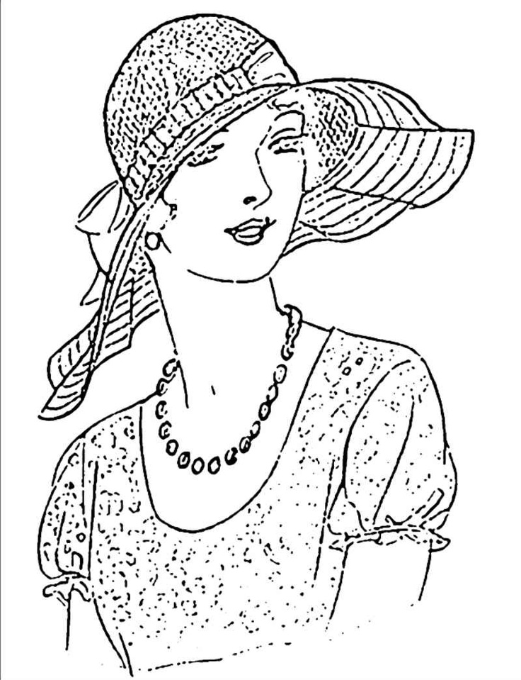 Vintage Woman In Hat
