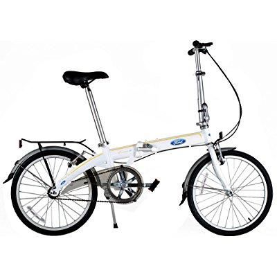 Ford By Dahon Convertible 1.0 Aluminum 20 inch Folding Bicycle, White