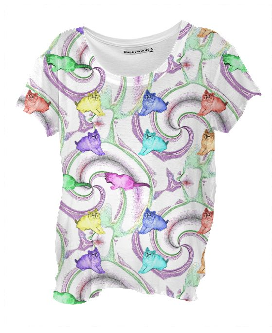 Lollipop Kittens Drape Shirt