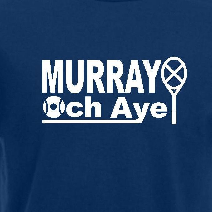 Andy Murray Wimbledon Tennis T-shirt. Scotland British Champion