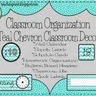 Stay organized with these labels, posters, name plates, incentive charts and much more! Adorable teal chevron design!