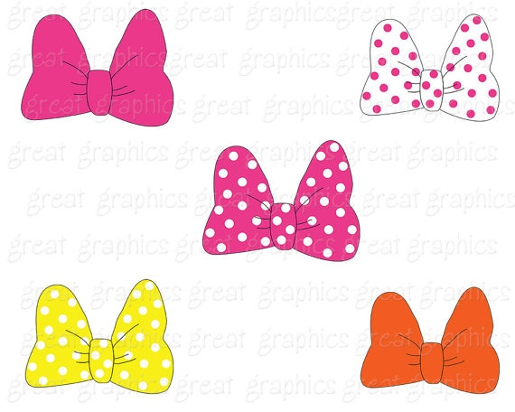 Mouse bow clipart inspired minnie mouse bow by for Free printable minnie mouse bow template