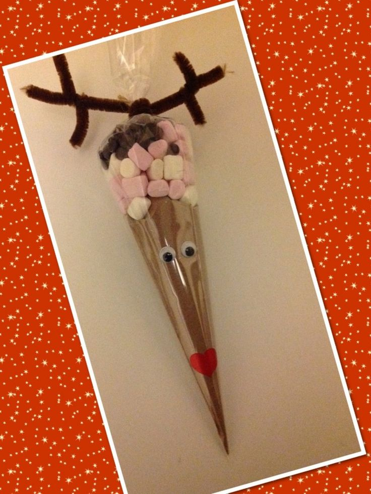 Reindeer hot chocolate cones - The Supermums Craft Fair