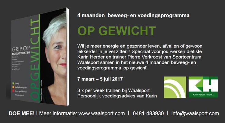 Unieke samenwerking met Sportcentrum Waalsport!  Intensieve beweeg- en voedingsprogramma gedurende 4 maanden. Start op 7 maart.