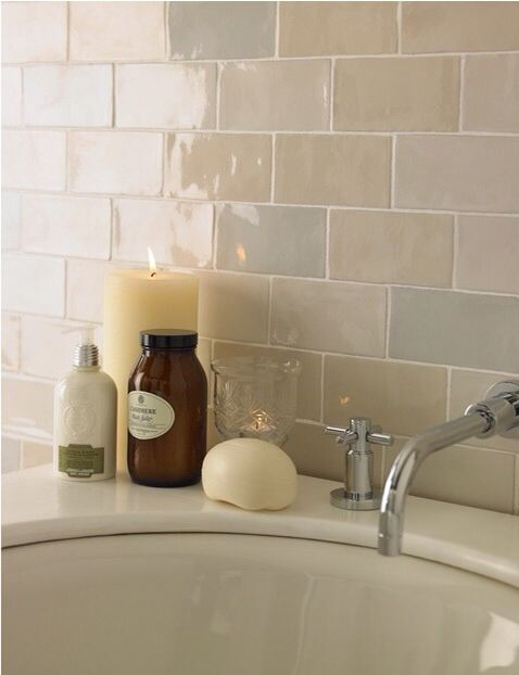Laura Ashley glazed brick tiles                                                                                                                                                                                 More