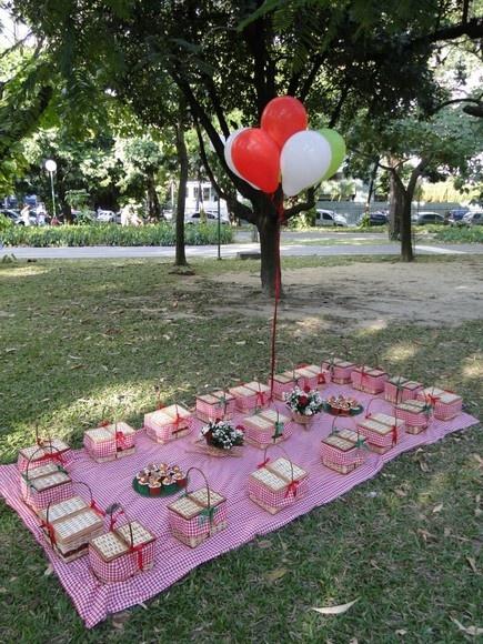 Me deu até vontade de fazer um picnic!