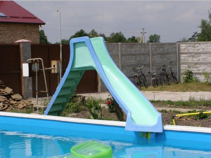 Backyard Pool With Slides 489 best pools & backyards images on pinterest | pool backyard
