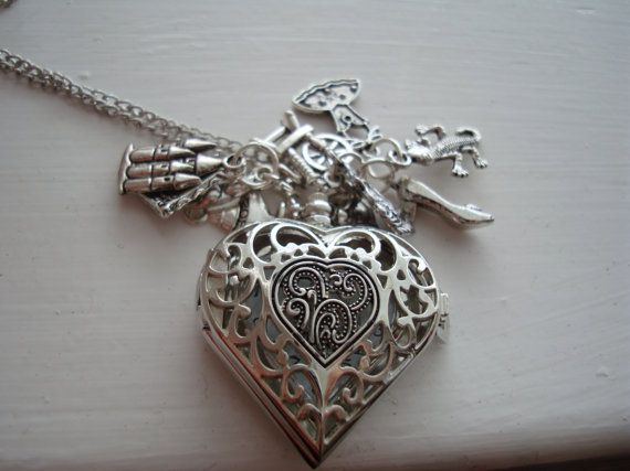 Princess Pocket Watch Necklace with Charm and Silver by BaillieDay, £15.00