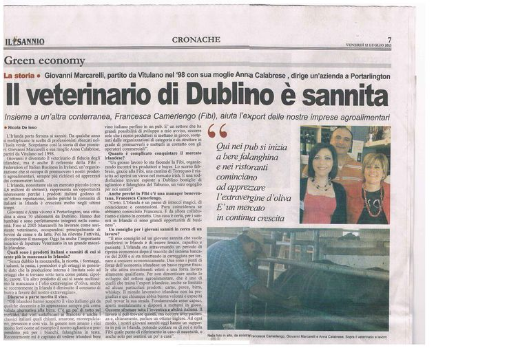 Great story about Giovanni, an Italian veterinary in Ireland and his connections with the FIBI :-)