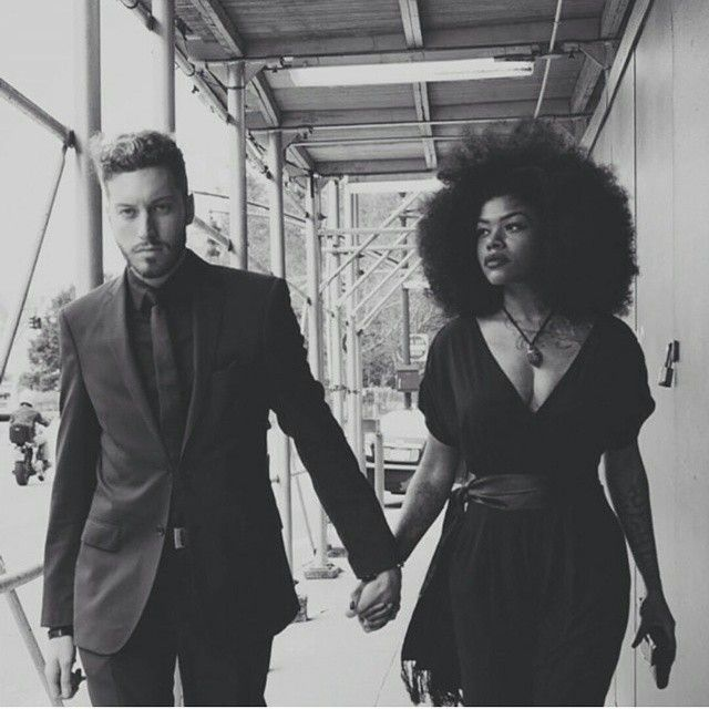 Honestly look how beautiful. Her afro his awesome cut . Both shockingly beautiful. #bwwm