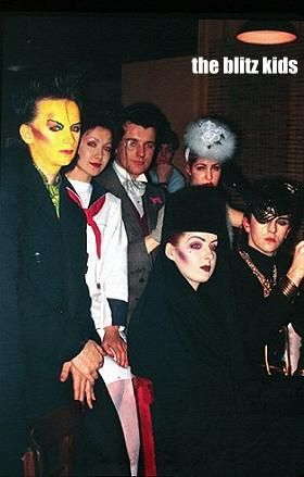 boy george, vivienne lynn, chris sullivan, pinkie tessa, kim and steve strange at the blitz, 1980