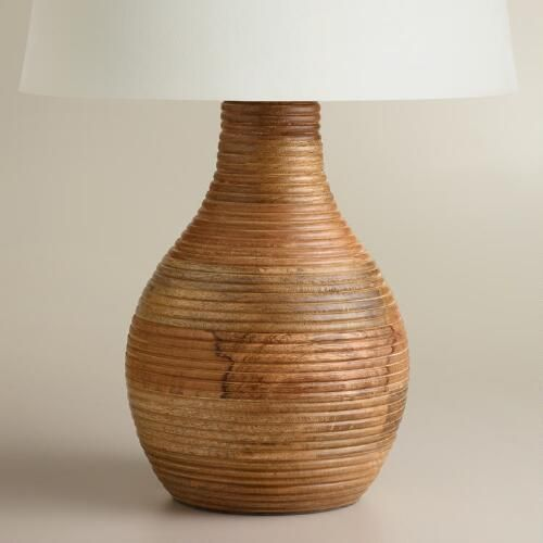 One of my favorite discoveries at WorldMarket.com: Ribbed Wood Table Lamp Base