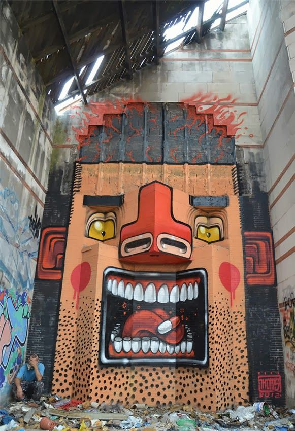 Best MURAL Images On Pinterest Cities Advertising And Artists - Amazing graffiti alters perspective space