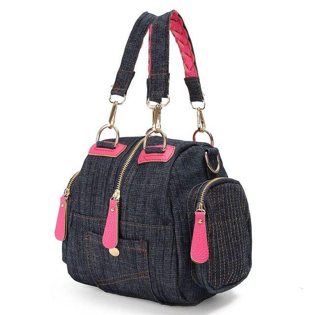 Бренд дизайн демин жан женщин сумки ретро винтажный стиль леди плечо кроссбоди сумки синие джинсы холст слинг Bolsa