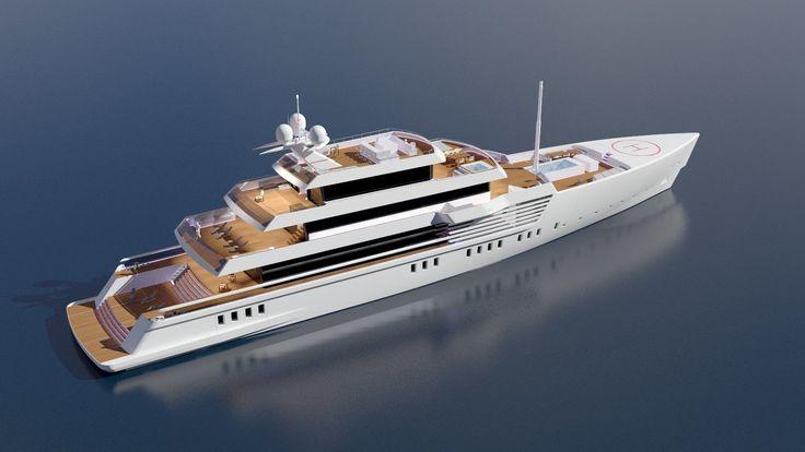 72m Yacht Design Concept