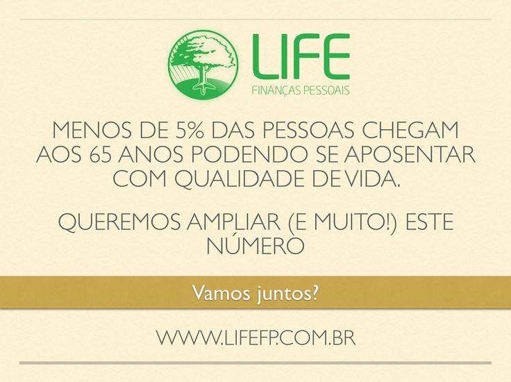 Aposentar não é, necessariamente, parar de trabalhar. Simplesmente é não mais precisar do dinheiro que vem do trabalho. Esta é a definição de aposentadoria que usamos na LifeFP™ e que construímos com mais de 1.500 famílias em todo o Brasil... 1.500... É muito pouco... Muito pouco. Mais famílias precisam se beneficiar de um Planejamento de Vida que contempla uma uma visão madura, responsável e libertadora para o planejamento de aposentadoria. #lifefp #planejamento #aposentadoria #liberdade