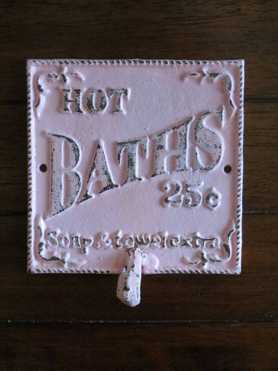 ON SALE TODAY Shabby Chic Bathroom Hook / Cast by VeritasInspired