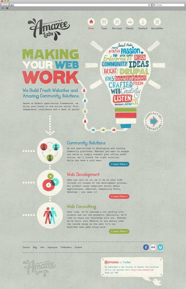 Unique Web Design on the Internet, Amazee Labs #webdesign #websitedesign #website #design http://www.pinterest.com/aldenchong/
