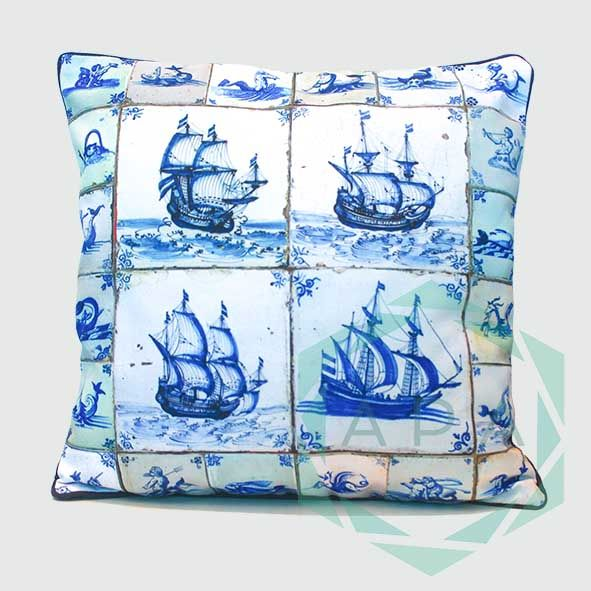 Inspired from 17th Century Dutch Delftware, make an artistic addition to your villa with our Delft cushion.   Delft2 cushion comes in 2 sizes:  45x45= Rp. 350,000 60x60= Rp. 450,000  For inquiries email us apaproductionhouse@gmail.com