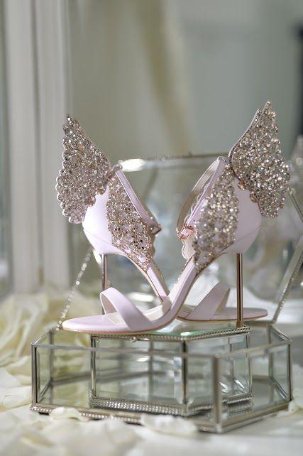 Glass Shoe Display info@elanakweddings.com.au