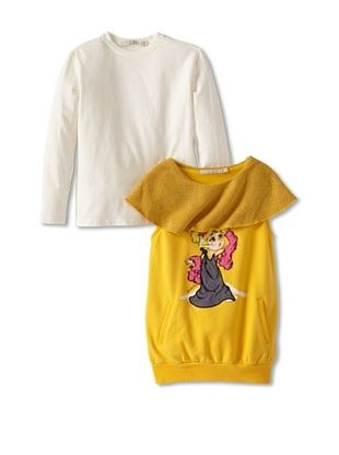 71% OFF Silvian Heach Girl's Tunic Set (Amber)