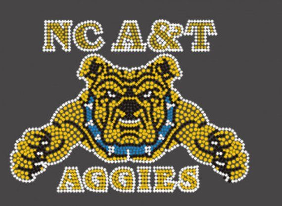 Nc A T Aggies Rhinestone T Shirt S Xl By Inspireddesigns2 On