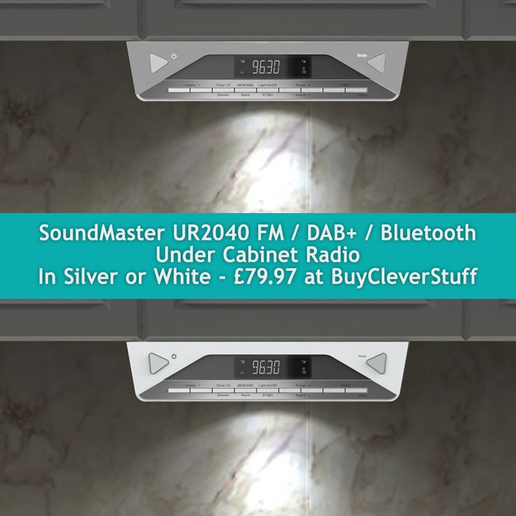 soundmaster UR2040 Under Cabinet FM   DAB Bluetooth Kitchen Radio. 17 best images about Under Cabinet Kitchen Radios on Pinterest