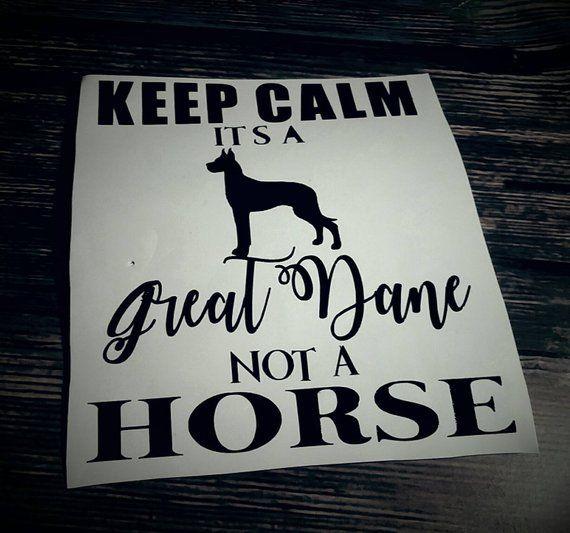 Great Dane Decal Funny Decal Great Dane Car Sticker Great Dane