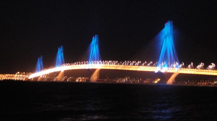 Rio - Antirio bridge by night