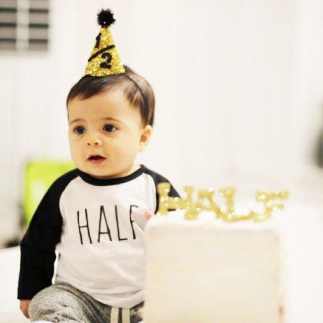 Half Birthday Shirt;1st Birthday Shirt; 6 month Birthday Shirt; 1/2 birthday shirt; Half Birthday Tee; Hipster Birthday; Simple birthday tee by beachtownbaby on Etsy https://www.etsy.com/listing/262304808/half-birthday-shirt1st-birthday-shirt-6