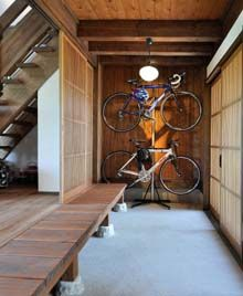 Entrance in a traditional Japanese home.