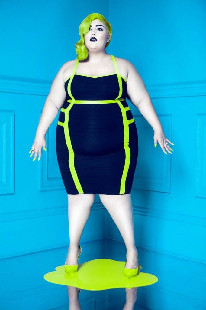 """That dress is FIERCE!  SLINK MAGAZINES """"THE PLACEBO EFFECT"""" PLUS SIZE EDITORIAL"""