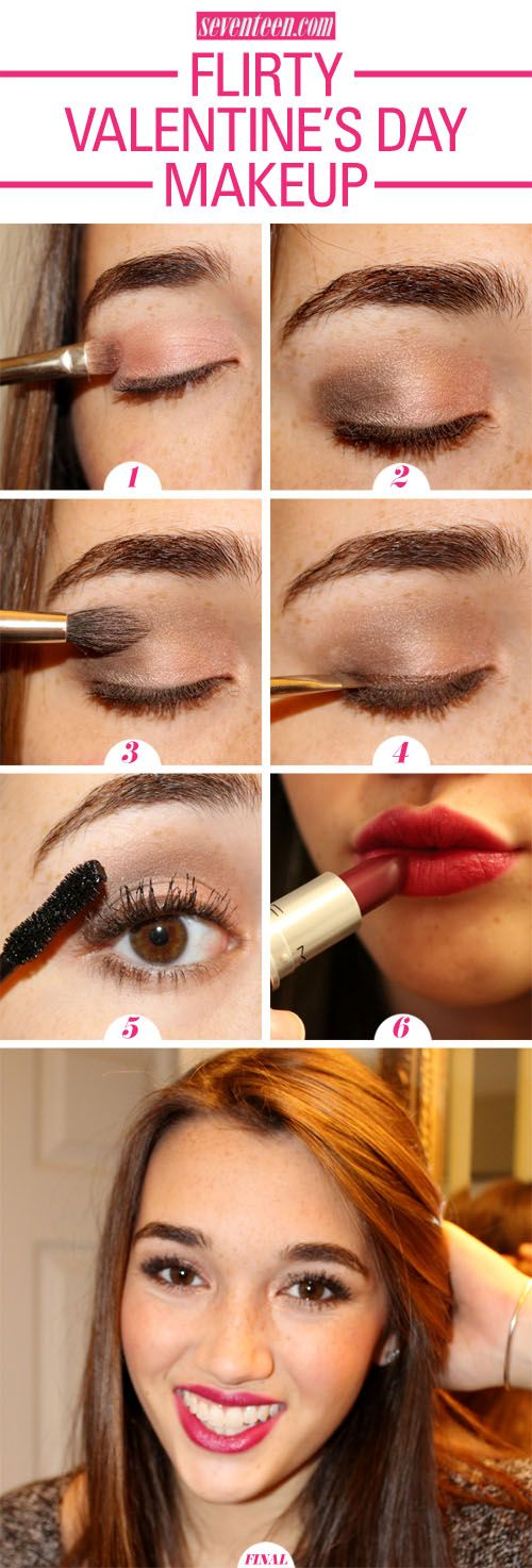 Easy Valentine's Day Makeup Tutorial Anyone Can Do ...