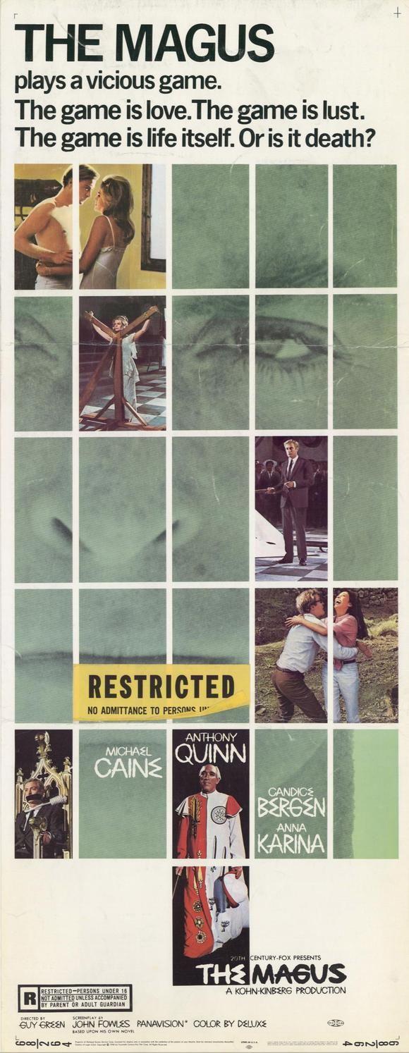 The Magus (1968) Stars: Anthony Quinn, Michael Caine, Candice Bergen, Anna Karina, Paul Stassino, Julian Glover