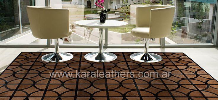 Elegant style of cowhides patchwork rugs