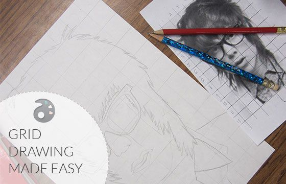 Grid Drawing Made Easy in 7 simple steps.