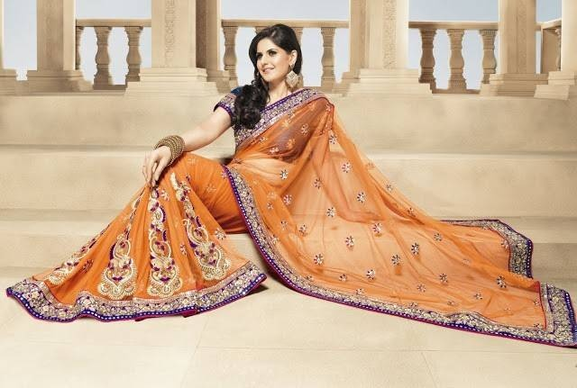 A sari or saree is a strip of unstitched cloth, worn by females, ranging from four to nine yards in length that is draped over the body in various styles which is native to the Indian Subcontinent. The word sari is derived from Sanskrit which means 'strip of cloth and शाडी śāḍī or साडी sāḍī in Prakrit, and which was corrupted to sāṛī in Hindi.