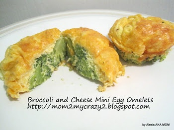 Broccoli and Cheese Mini Egg Omelets (WW 2pts)