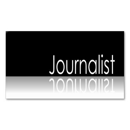 206 best Journalist/Reporter Business Cards images on Pinterest ...