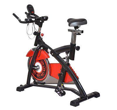 Bicicleta estatica de spinning y fitness de Acero con sistema de transmision variable continua y pedaleo muy silencioso, resistencia ajustable y sillin y manillar regulables. Gracias a la pantalla LED, puede leer los datos de entrenamiento como el tiempo, velocidad, distancia, calorias quemadas... http://gimnasioynutricion.com/tienda/bicicletas/estatica/bicicleta-estatica-spinning-fitness-gimnasio-bici-entrenador-carga-150kg-led/