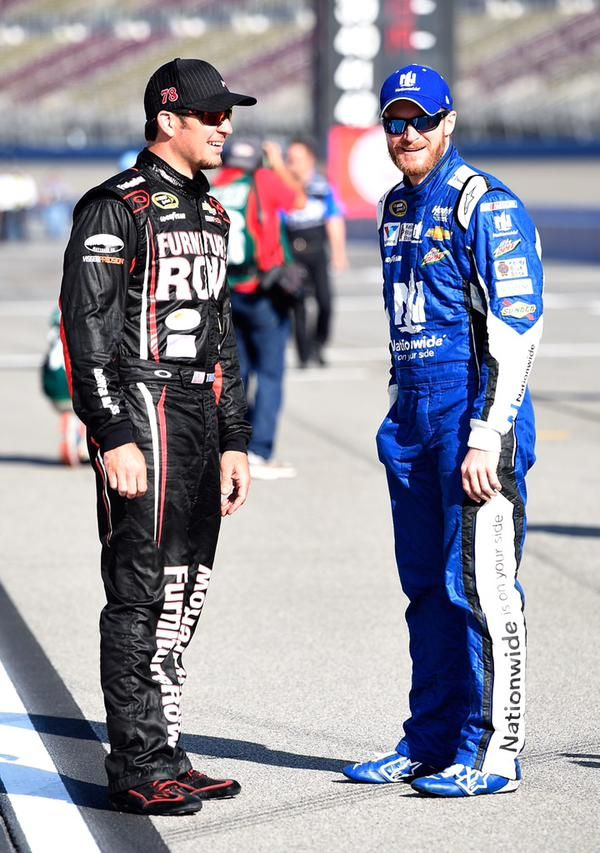 Martin Truex, Jr. and Dale Jr. at ACS in Fontana