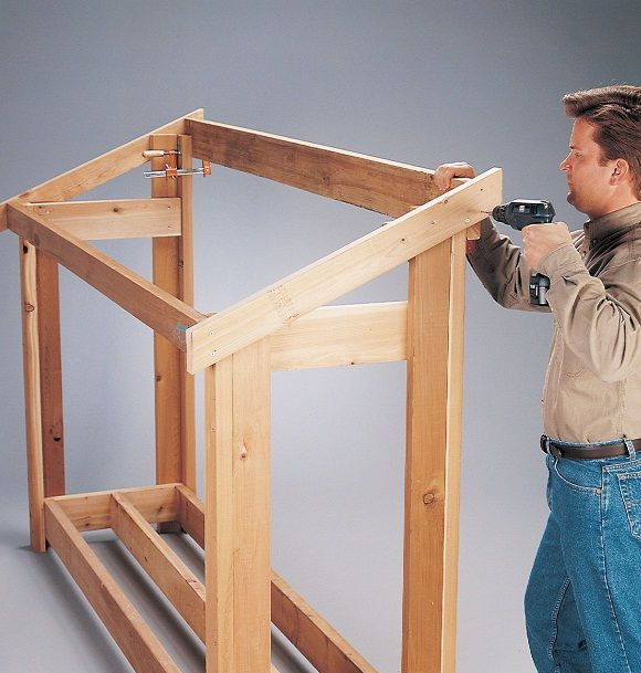 DIY Woodworking Ideas Firewood Shelter 4