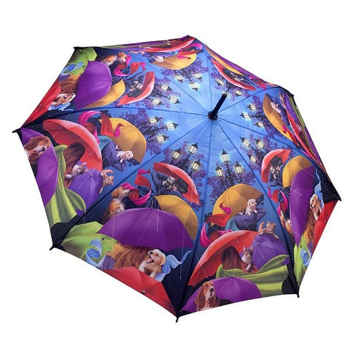 Galleria Art Print Walking Length Umbrella - Walk in the Park - Brolliesgalore