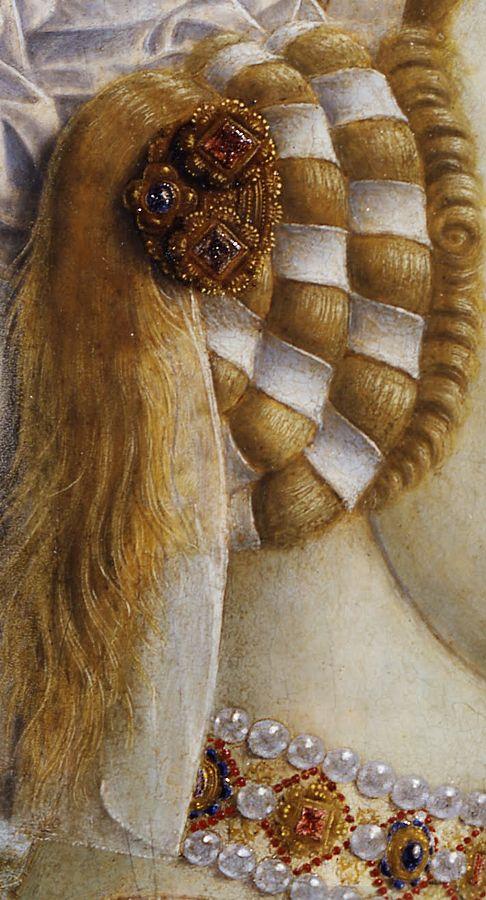 Piero della Francesca 1412-1492, Portraits of the Duke and Duchess of Urbino, detail